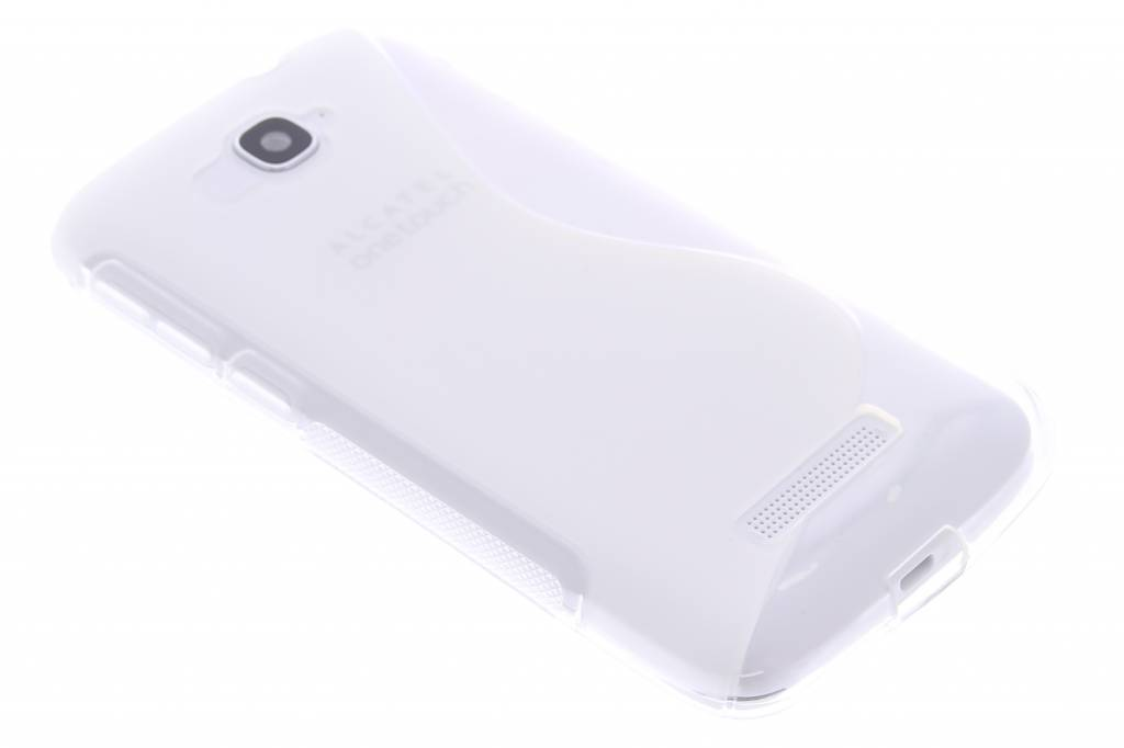 Transparant S-line TPU hoesje voor de Alcatel One Touch Pop C7