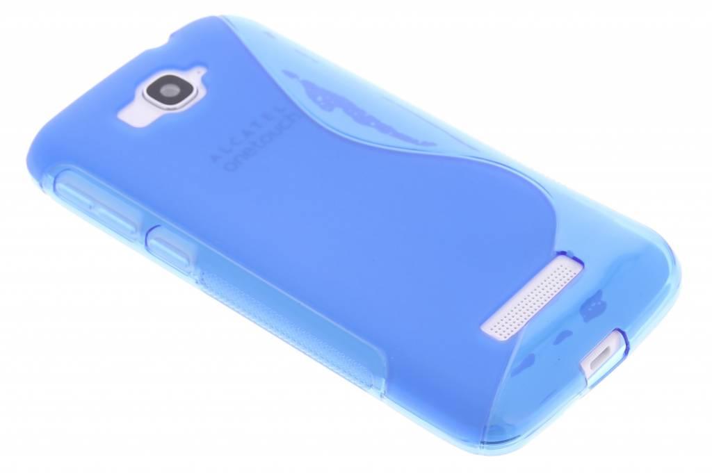 Blauw S-line TPU hoesje voor de Alcatel One Touch Pop C7