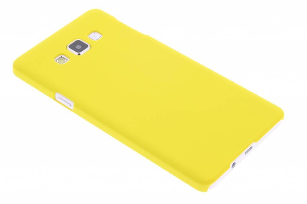 Geel effen hardcase hoesje voor de Samsung Galaxy A7