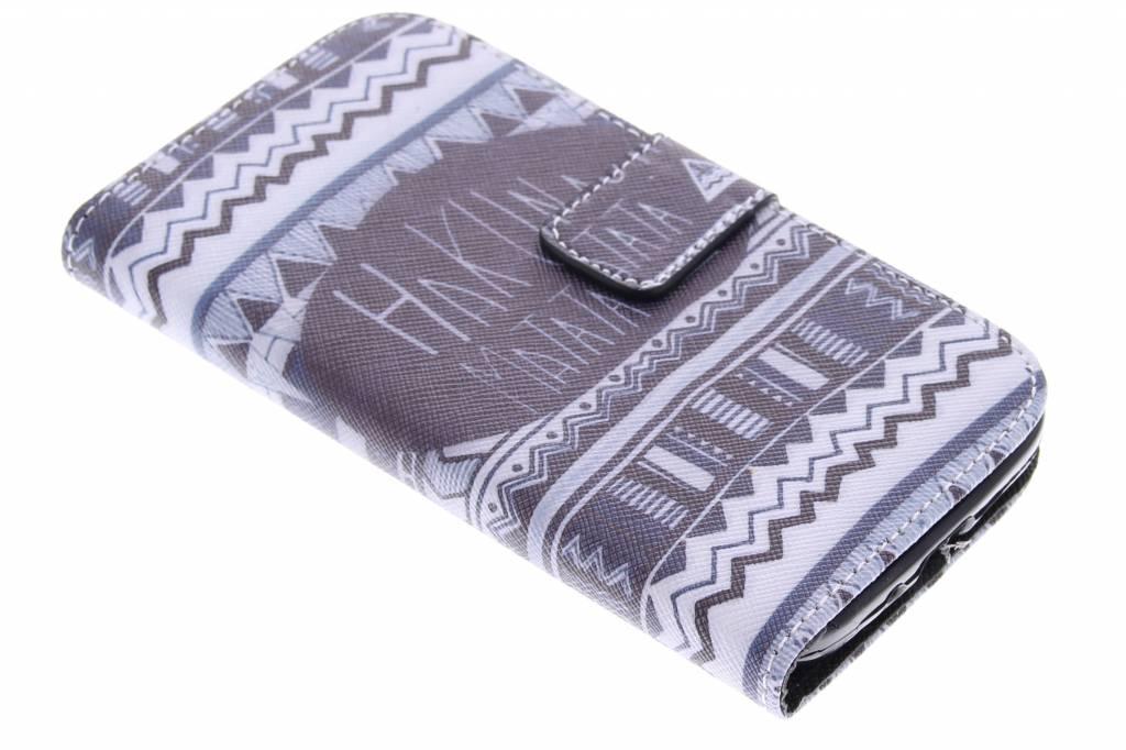 Hakuna Matata design TPU booktype hoes voor de Samsung Galaxy S4