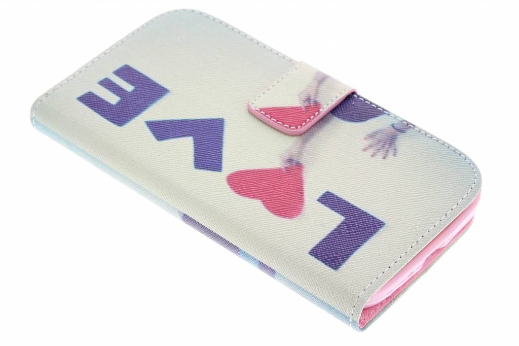 Love design TPU booktype hoes voor de Samsung Galaxy S4