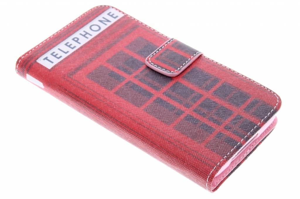 Telephone design TPU booktype hoes voor de Samsung Galaxy S5 (Plus) / Neo