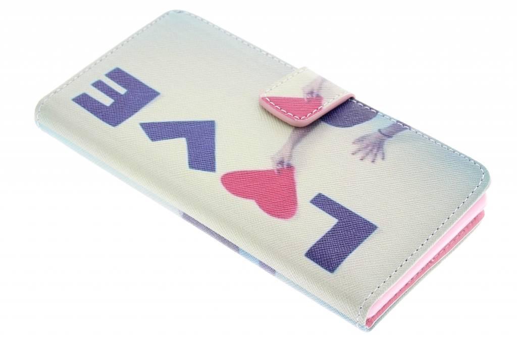 Love design TPU booktype hoes voor de Sony Xperia Z3