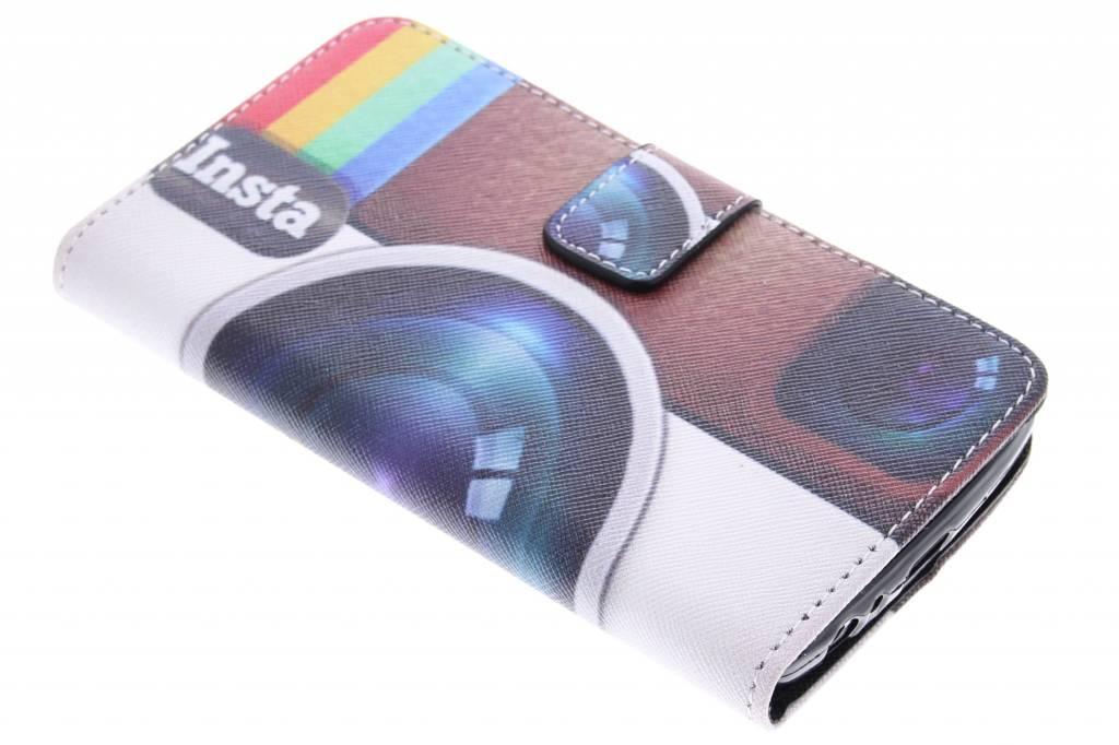 Insta camera design TPU booktype hoes voor de LG G3