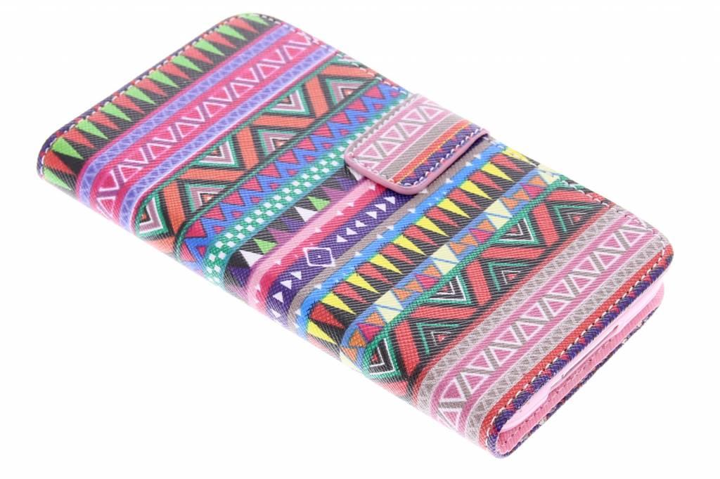 Aztec design TPU booktype hoes voor de Samsung Galaxy S5 (Plus) / Neo
