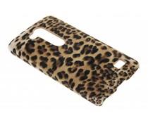 Luipaard flock hardcase hoesje LG L Fino / L70 Plus