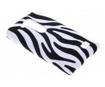 Zebra flock hardcase hoesje LG L Fino / L70 Plus