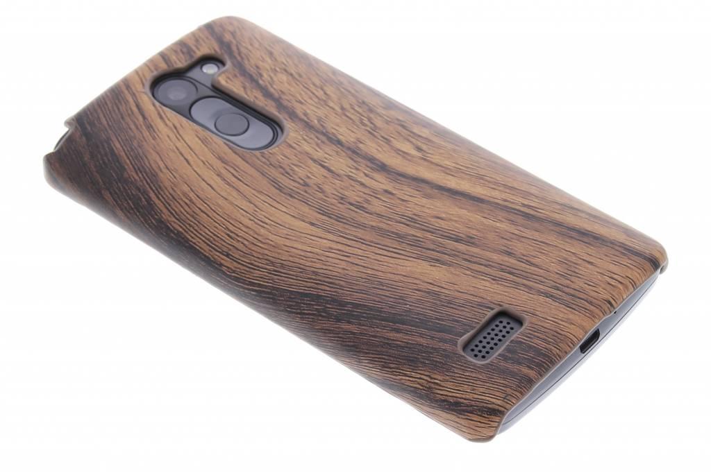 Donkerbruin hout design hardcase hoesje voor de LG L Bello / L80 Plus