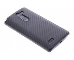 Zwart carbon look hardcase hoesje LG L Bello / L80 Plus