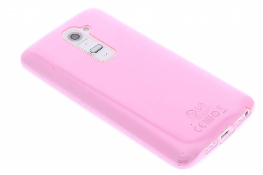 Roze ultra thin transparant TPU hoesje voor de LG G2