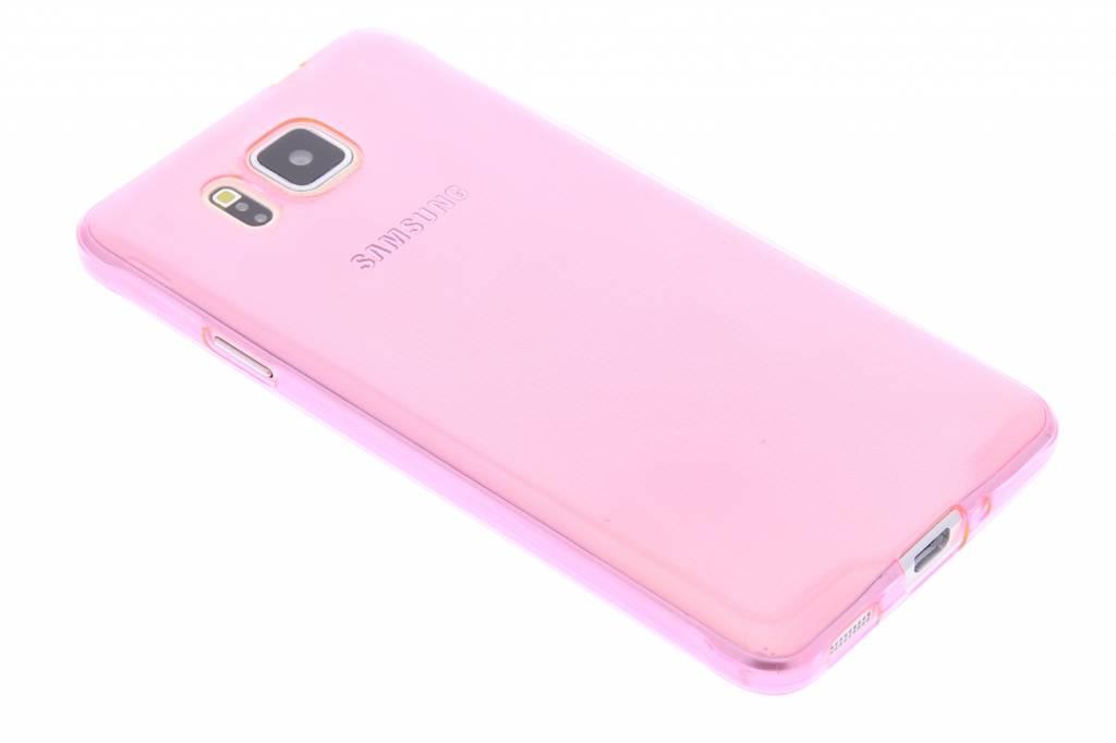 Roze ultra thin transparant TPU hoesje voor de Samsung Galaxy Alpha