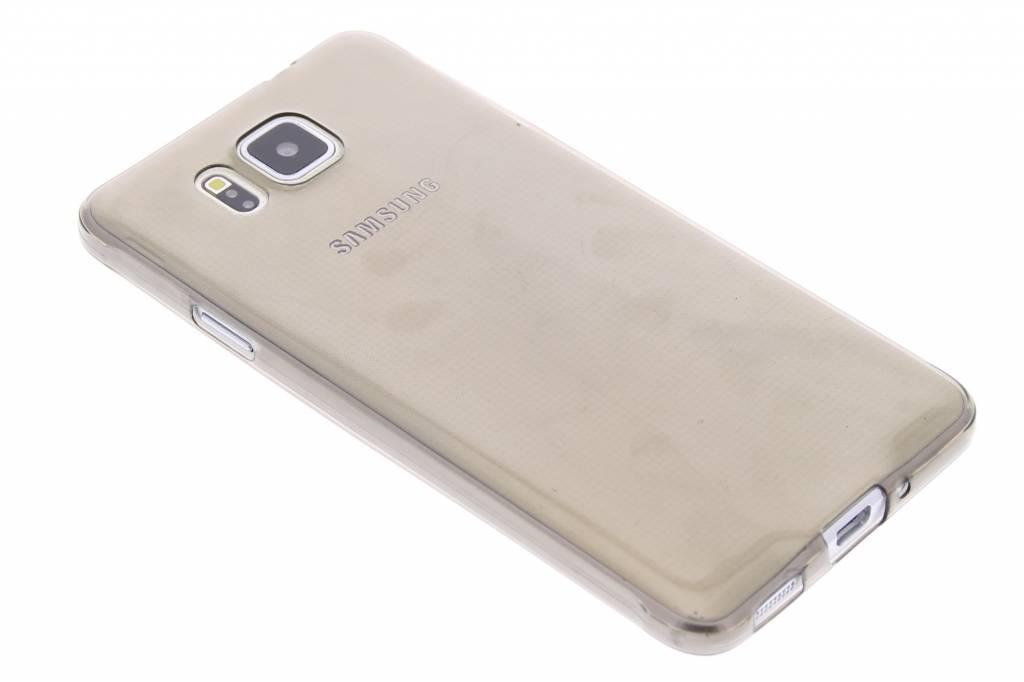 Grijs ultra thin transparant TPU hoesje voor de Samsung Galaxy Alpha