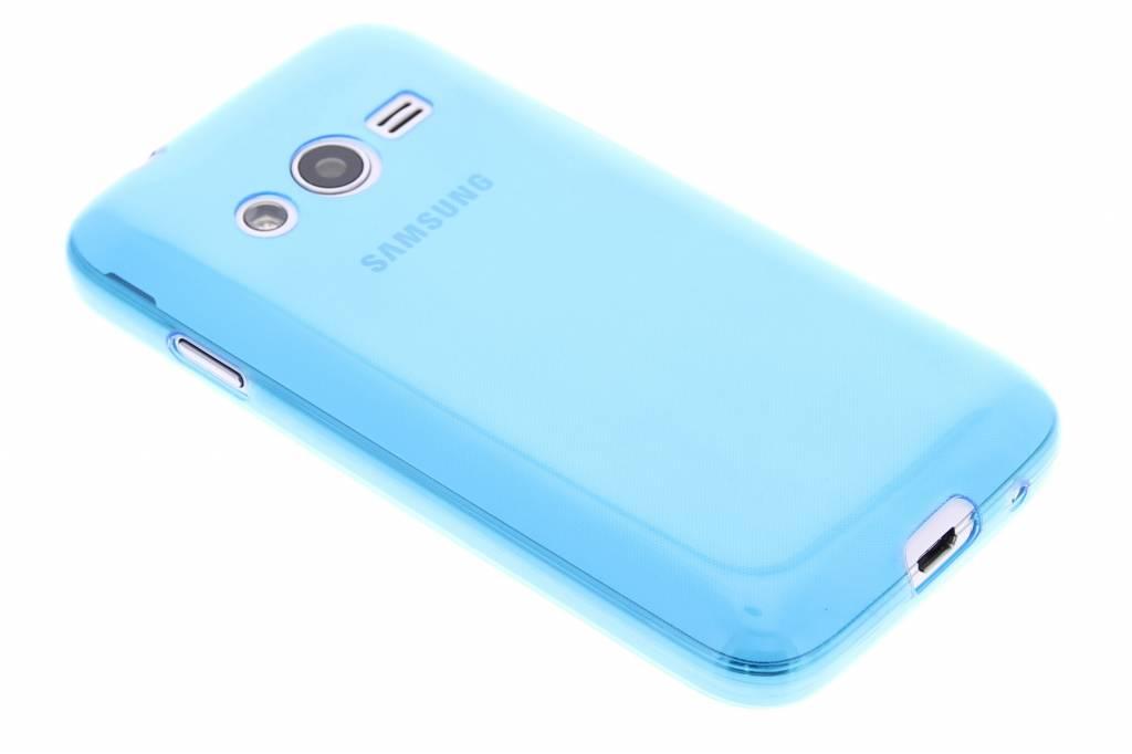 Blauw ultra thin transparant TPU hoesje voor de Samsung Galaxy Trend 2 (Lite)