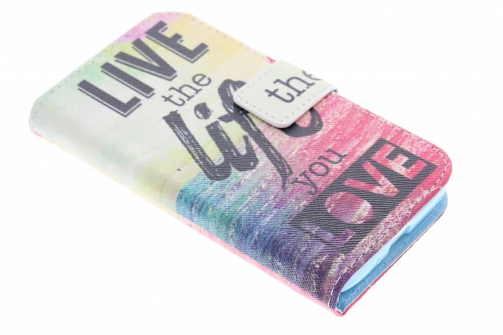 Live the life design TPU booktype hoes voor de LG L70