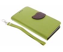 Blad design TPU booktype hoes Sony Xperia E3