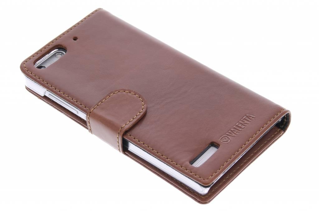 Valenta Booklet Classic Luxe voor de Huawei Ascend G6 - Brown