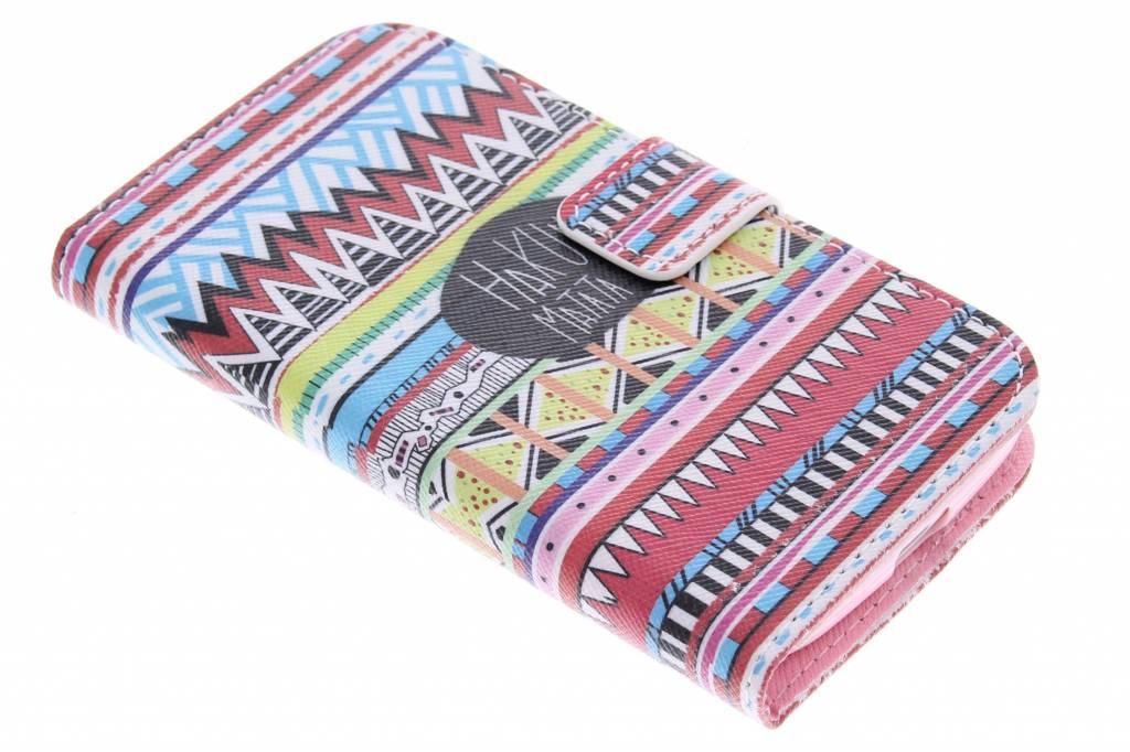 Aztec design TPU booktype hoes voor de Samsung Galaxy Core