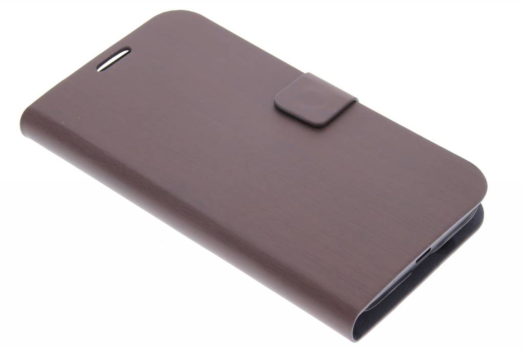 Donkerbruin hout design booktype hoes voor de Huawei Ascend Y550