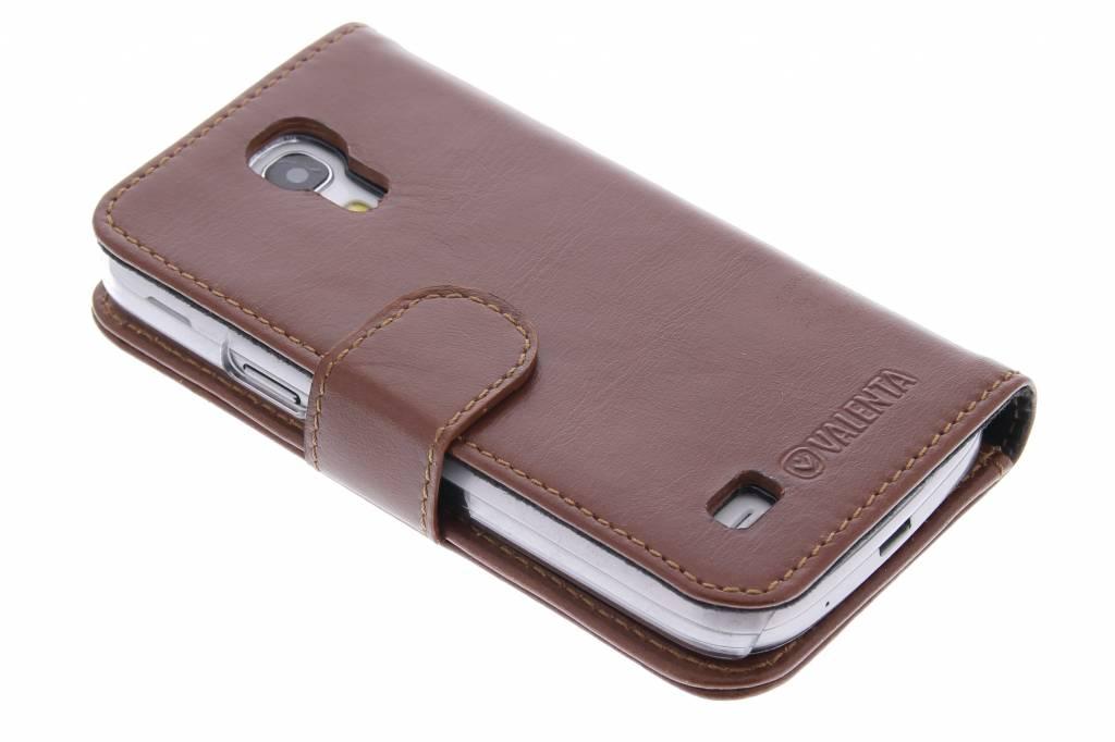 Valenta Booklet Classic Luxe voor de Samsung Galaxy S4 Mini - Brown