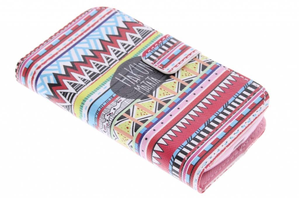 Aztec design TPU booktype hoes voor de Samsung Galaxy S Duos / Trend (Plus)