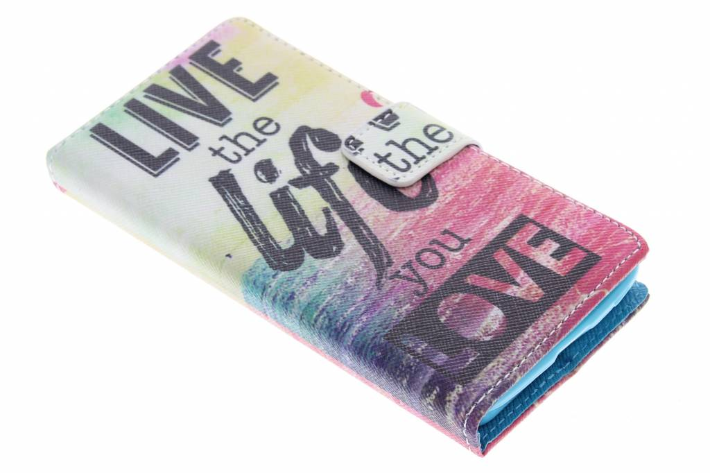 Live the life design TPU booktype voor de Nokia Lumia 630 / 635