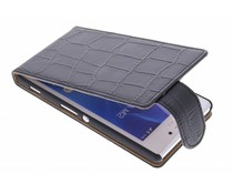 Zwart krokodil flipcase Sony Xperia M2 (Aqua)