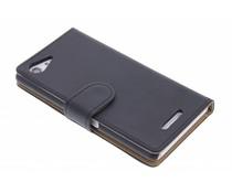Zwart effen booktype hoes Sony Xperia E3