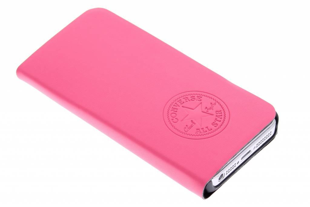 Image of Premium PU Booklet Case voor de iPhone 5 / 5s / SE - Fuchsia