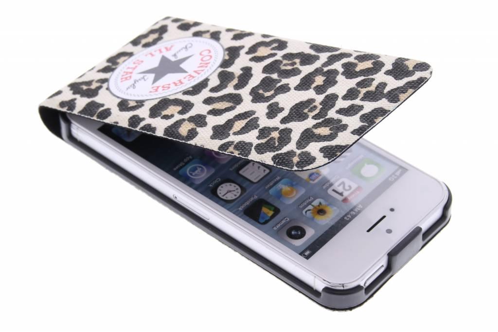 Image of Flip Case voor de iPhone 5 / 5s / SE - Leopard