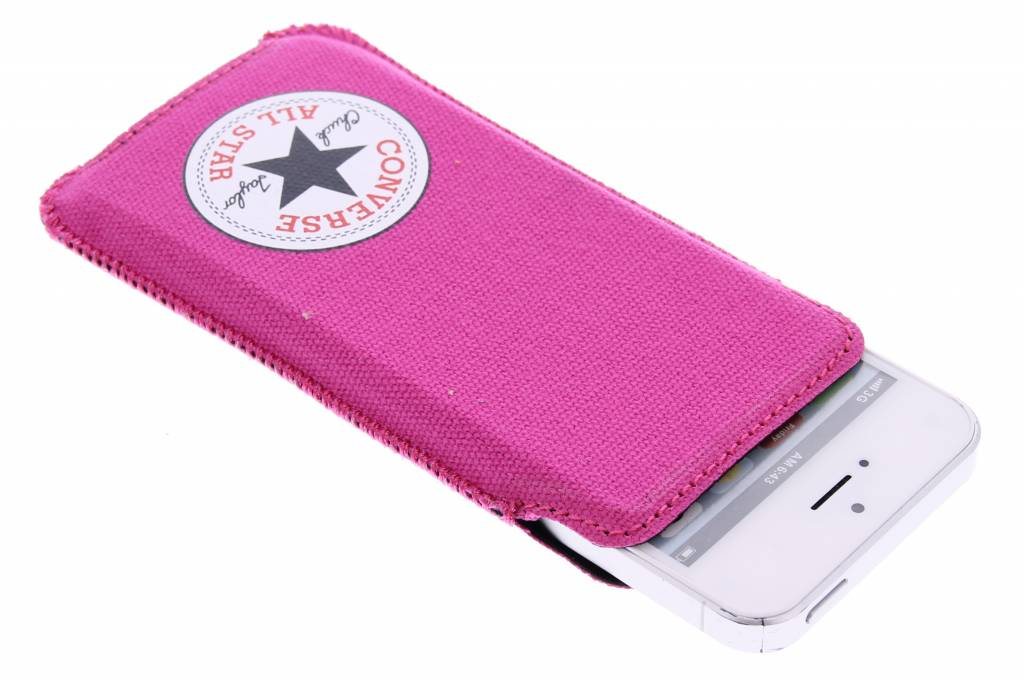 Image of Canvas Pouch voor de iPhone 5 / 5s / SE - Fuchsia