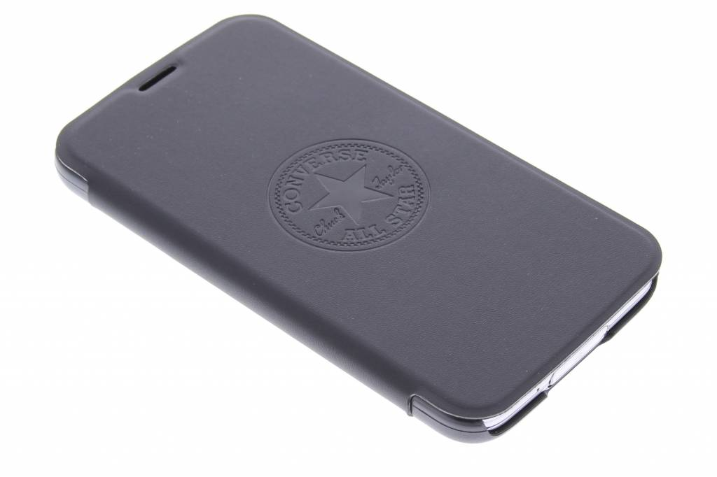 Converse Premium PU Booklet Case voor de Samsung Galaxy S5 (Plus) / Neo - zwart