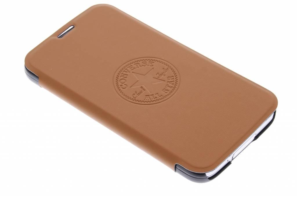 Converse Premium PU Booklet Case voor de Samsung Galaxy S5 (Plus) / Neo - bruin