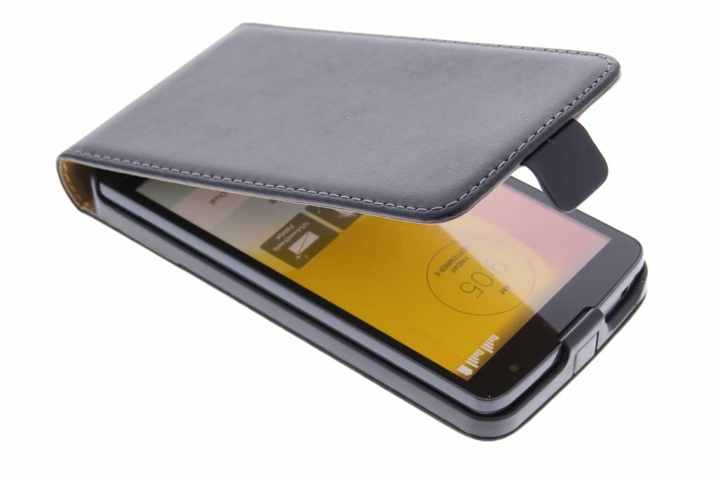 Zwarte luxe flipcase voor de LG L Bello / L80 Plus