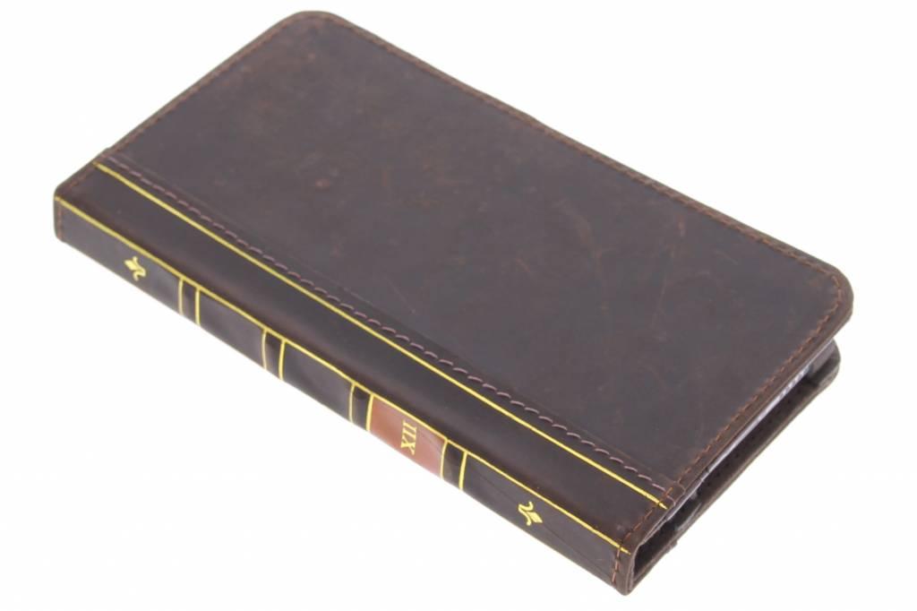 Bruine boek booktype hoes voor de iPhone 6(s) Plus