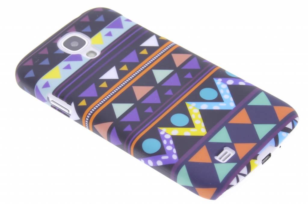 Indiaan design mat hardcase hoesje voor de Samsung Galaxy S4