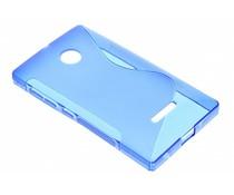 Blauw S-line TPU hoesje Microsoft Lumia 435 / 532