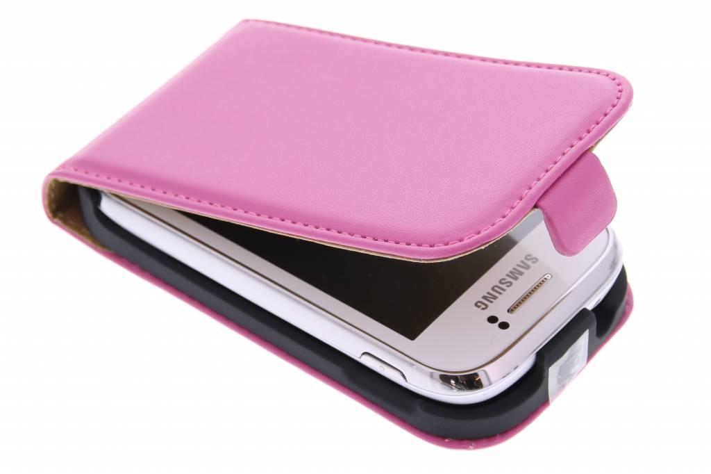 Roze luxe flipcase voor de Samsung Galaxy Young