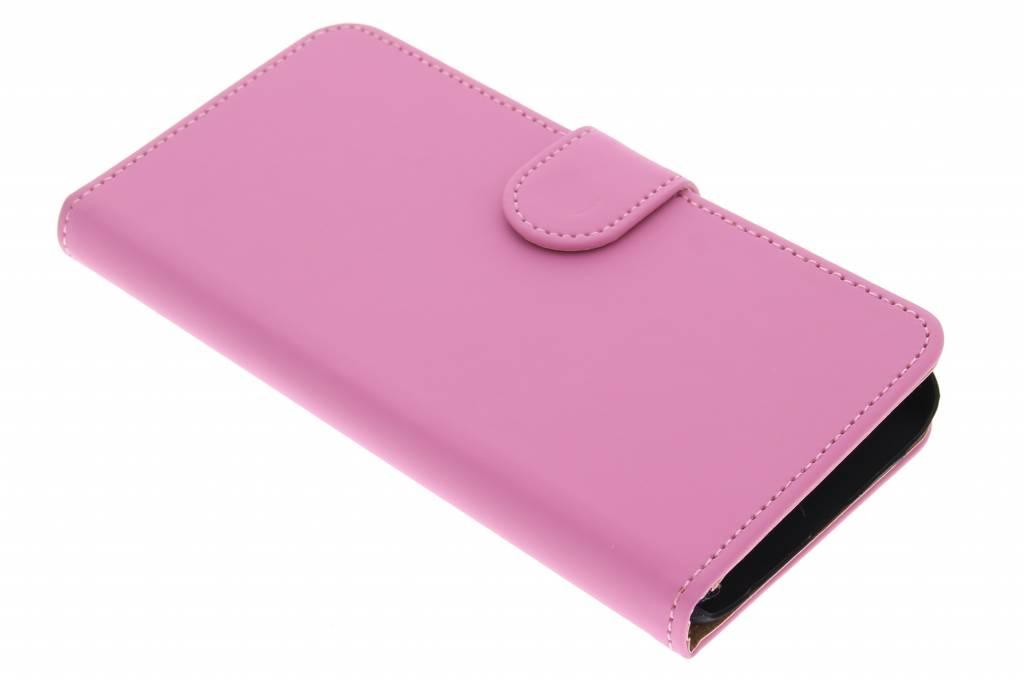 Roze effen booktype hoes voor de Samsung Galaxy S6