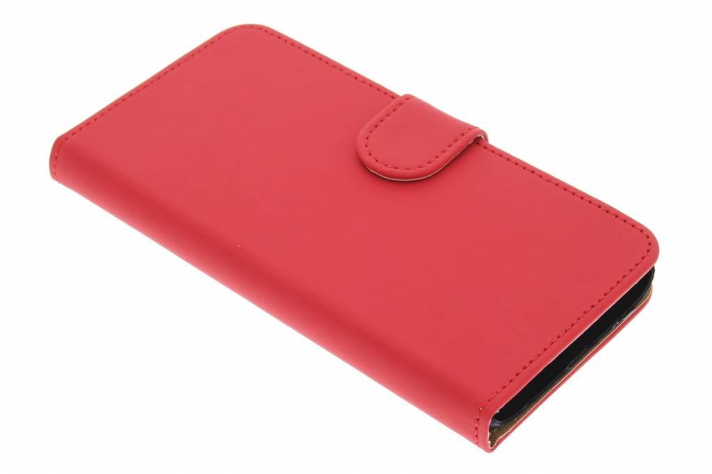 Rode effen booktype hoes voor de Samsung Galaxy S6