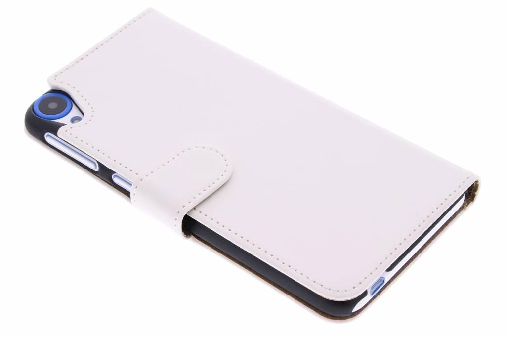 Witte effen booktype hoes voor de HTC Desire 820