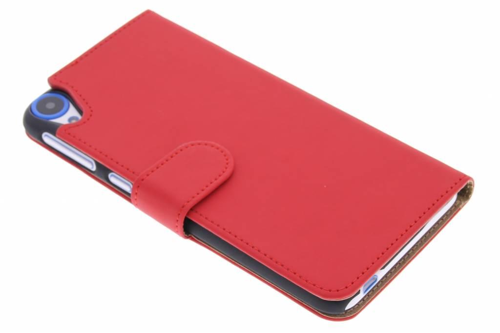 Rode effen booktype hoes voor de HTC Desire 820