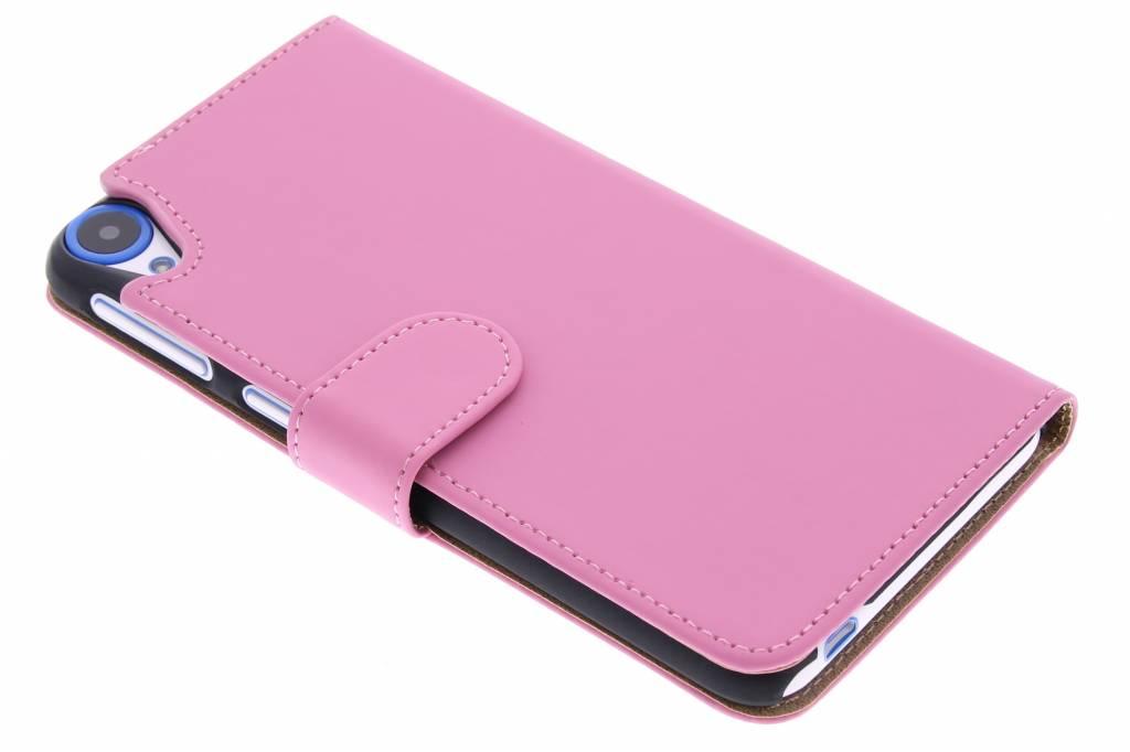 Roze effen booktype hoes voor de HTC Desire 820
