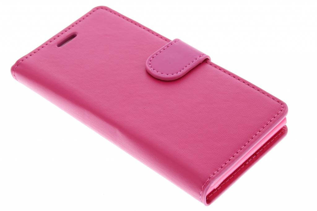 Fuchsia effen TPU booktype hoes voor de Huawei Ascend G6
