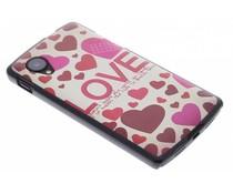 Love mat hardcase hoesje LG Nexus 5