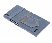 Denim jeans hardcase hoesje Huawei Ascend P6 / P6s