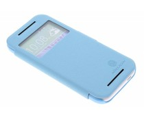 Nillkin Leather Case met venster HTC One Mini 2 - turquoise
