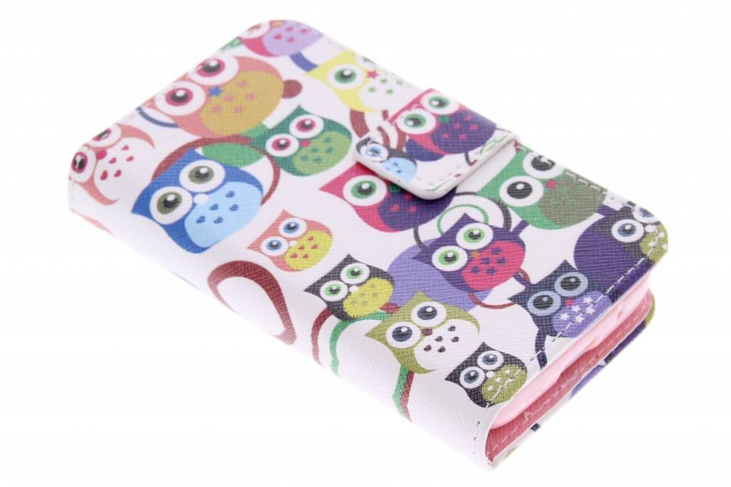 Uiltjes design TPU booktype hoes voor de Samsung Galaxy Young 2