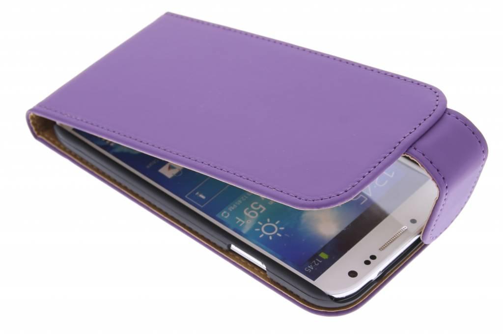 Paarse classic flipcase voor Samsung Galaxy S4