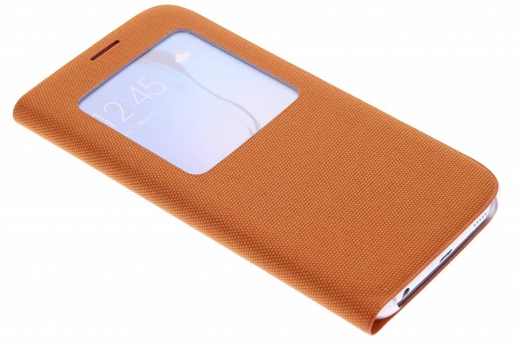 Samsung originele S View Cover Canvas voor de Samsung Galaxy S6 - oranje