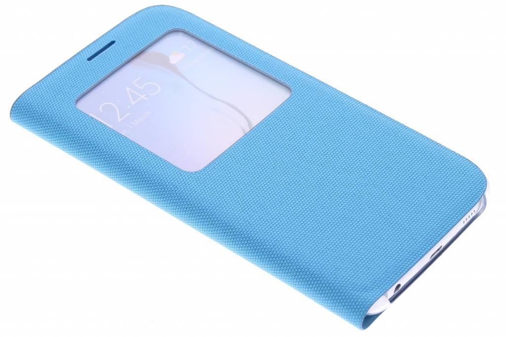 Samsung originele S View Cover Canvas voor de Samsung Galaxy S6 - turquoise